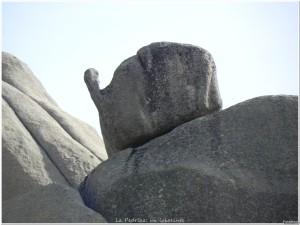 Roca curiosa en la Pedriza