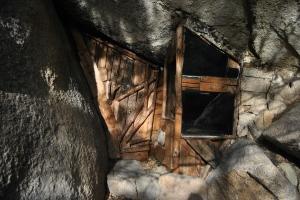 Parte delantera de la Cabaña del ermitaño