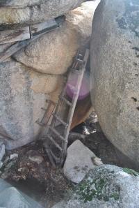 Acceso al mirador de la Cabaña del ermitaño