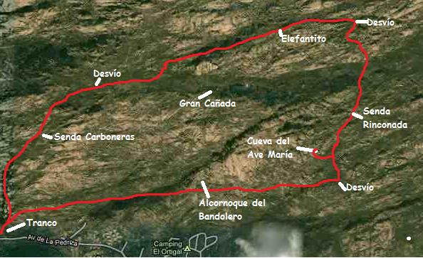 Mapa Cueva del Ave María la Pedriza