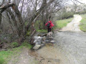 Cruzar el arroyo de Santillana