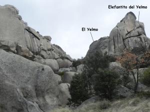 Ruta a la izquierda del Yelmo