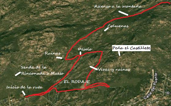 Mapa ruta de cine por La Pedriza