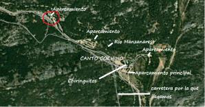 Mapa aparcamientos de Canto Cochino
