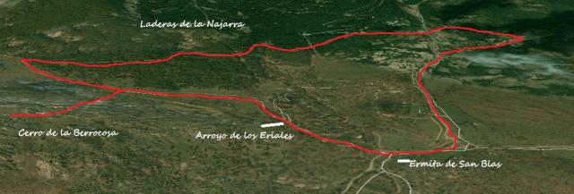 Mapa ruta por los alrededores de la Ermita de San Blas